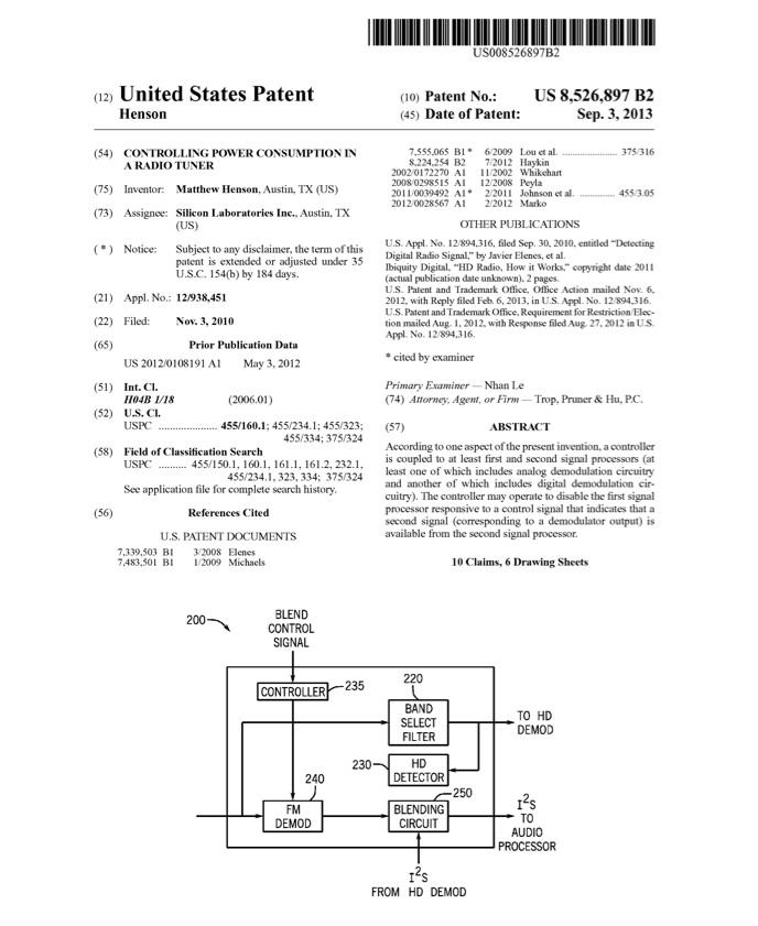 Patent8526897